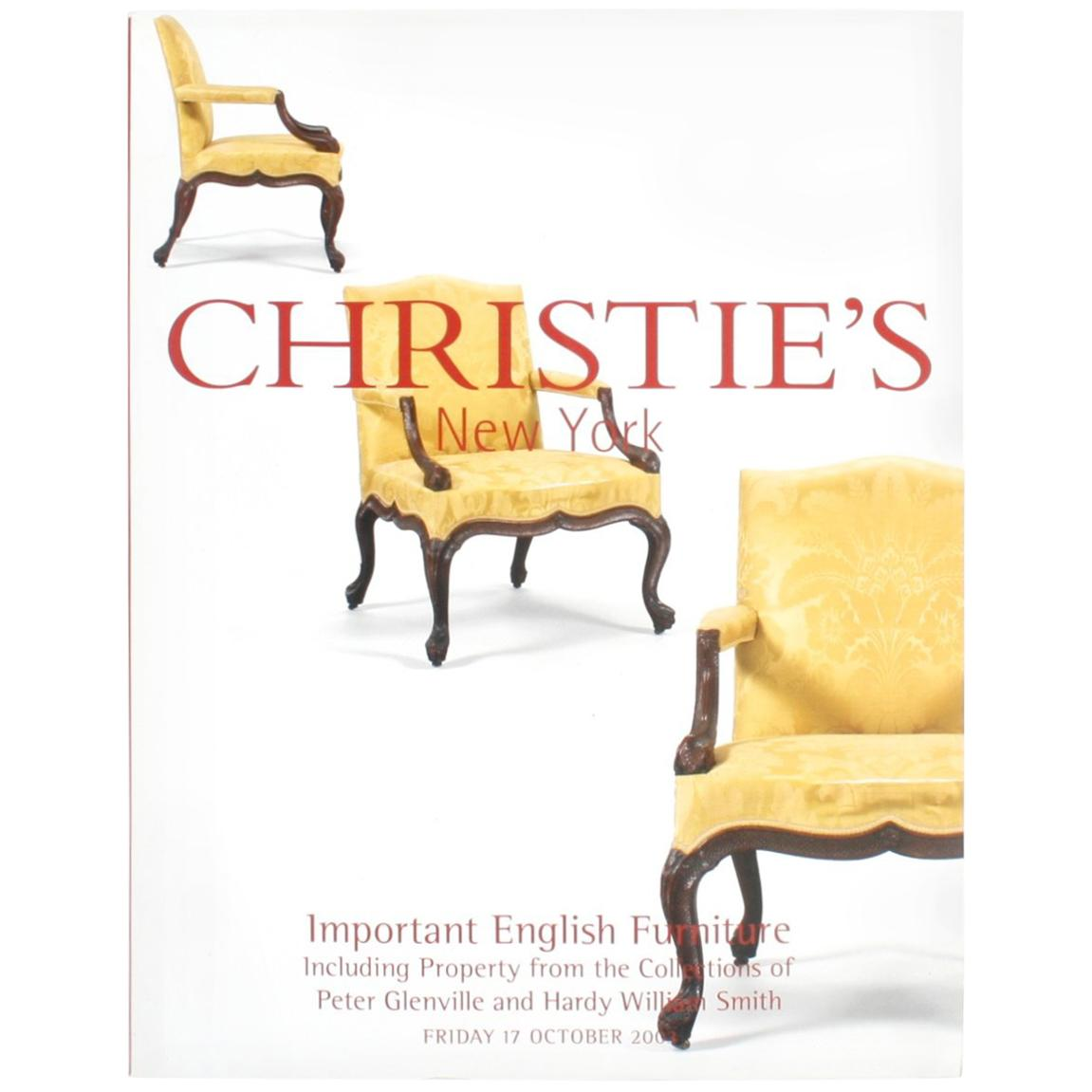 Christie's Important English Furniture, from Collections Peter Glenville