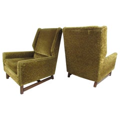 Pair of Mid-Century Modern Danish Wingback Armchairs