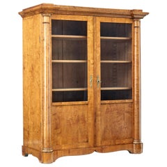 19th Century Empire Revival Birch Vitrine