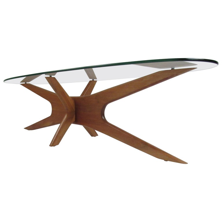 "Midcentury Adrian Pearsall ""Jax"" Base Coffee Table For Sale"