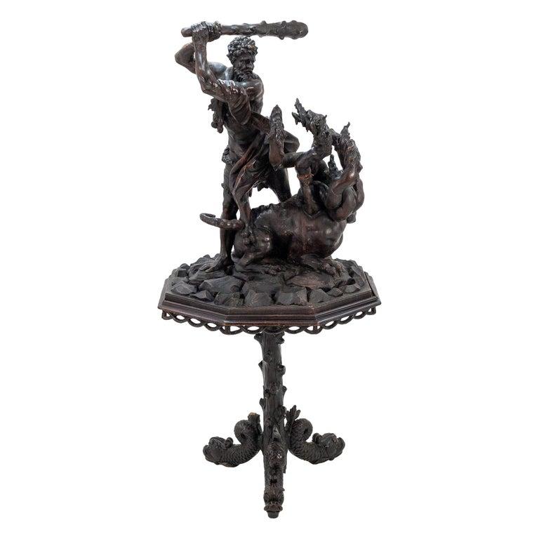 19th Century Statue Hercules Slaying The Hydra
