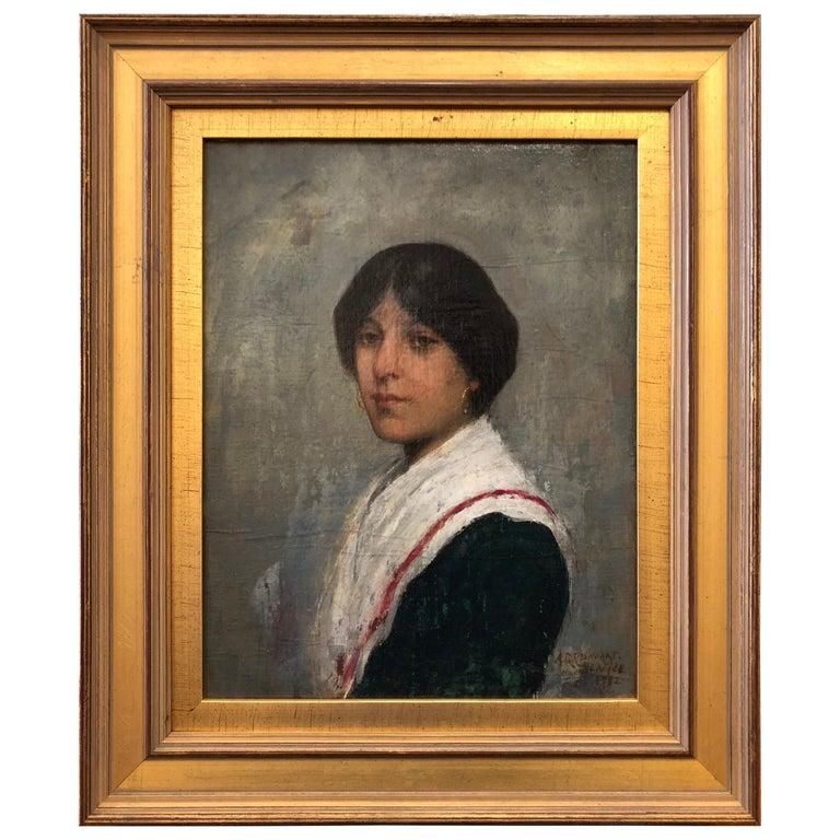 Oil Painting by Albert Grantley Reinhart, 1882