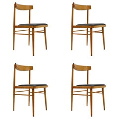 Set of Four Scandinavian Style Midcentury Dining Chairs, 1970s