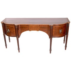 Late 18th Century Mahogany George III Sideboard with Cellerette