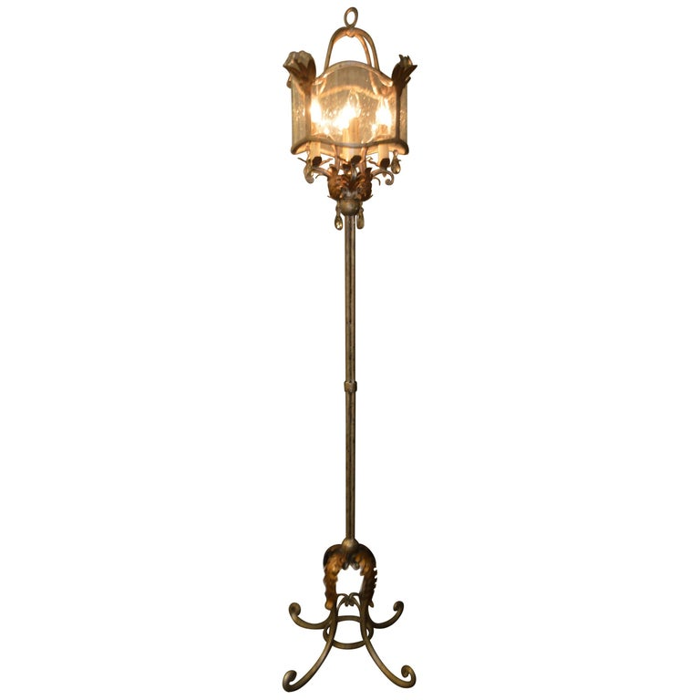 French Chandelier Style Four Lights Floor Lamps For