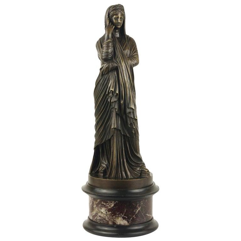 Grand Tour Bronze Figure of Pudicity, circa 1890 For Sale