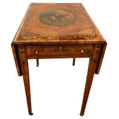 Magnificent Antique Satinwood Drop-Leaf Table