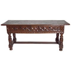 Late 17th Century Spanish Baroque Walnut Centre Table