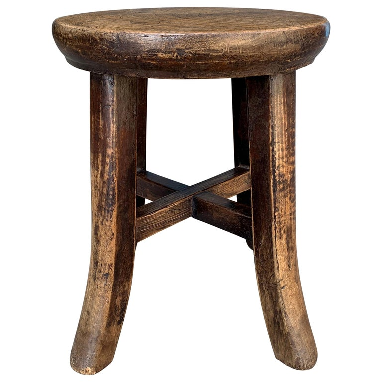Early 20th Century Petite Chinese Stool For Sale