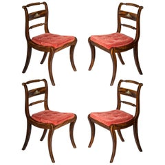 Set of Four Regency Painted Klismos Dining Chairs