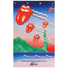 The Rolling Stones Original Vintage Tour Poster, American, 1981
