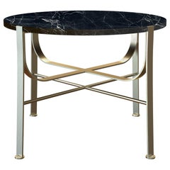Merge Contemporary Coffee Table Handmade and Customizable in Marble and Brass