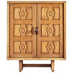 Guillerme et Chambron, Oak Cabinet, Edition Votre Maison, circa 1970