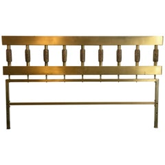 Brass and Bronze Headboard by Luciano Frigerio, Italy, 1970s