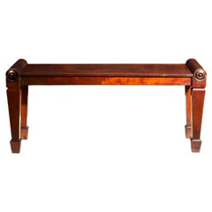 English 19th Century Regency Window Seat or Bedroom Bench