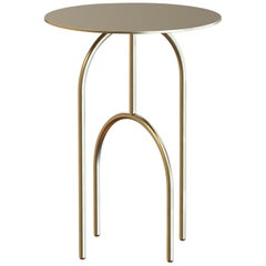Dome Contemporary Side Table Handmade and Customizable in Brass