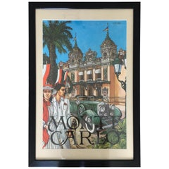 Original Art Poster Monte Carlo, Signed Keith Ingermann