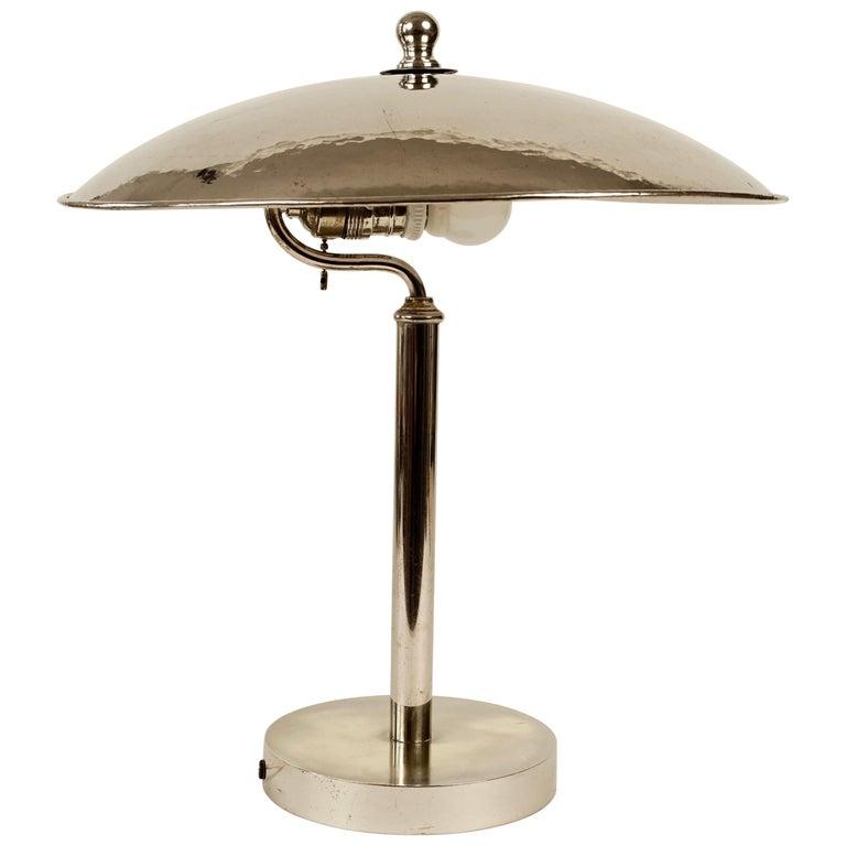 Jugendstil Table Lamp in Influences from Josef Hoffmann For Sale