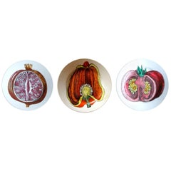 Piero Fornasetti Cut Fruit Pottery Plates '3', Sezioni Di Frutta Series, 1950s