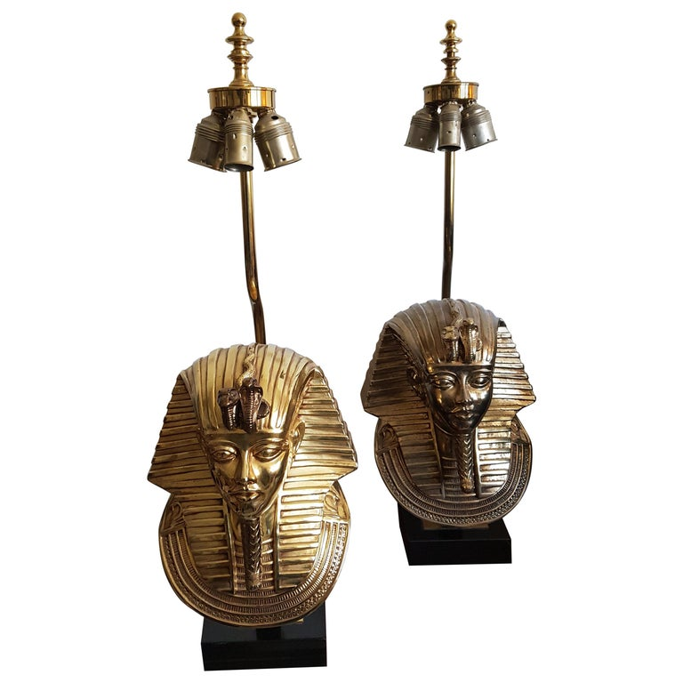 Vintage  Pharaoh Table Lamps, Hollywood Regency For Sale