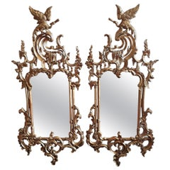 Pair of Giltwood Mirrors in Rococo Style