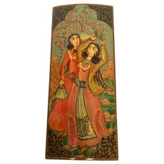 Lacquer Pen Box Hand Painted with Harem Girls Playing and Dancing