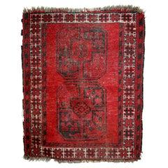 Handmade Antique Afghan Ersari Rug, 1900s, 1C620