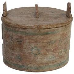 19th Century Swedish Folk Art Bentwood Box