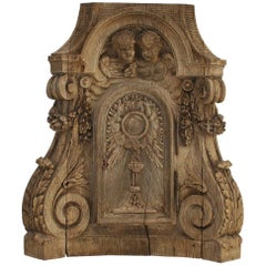 French 18th Century Oak Baroque Tabernacle Front