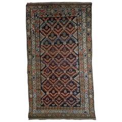 Handmade Antique Hamadan Style Rug, 1920s, 1B544