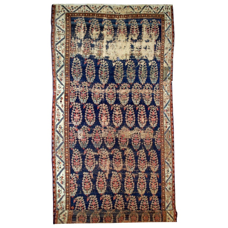 Handmade Antique Collectible Northwest Style Runner, 1830s, 1B549 For Sale