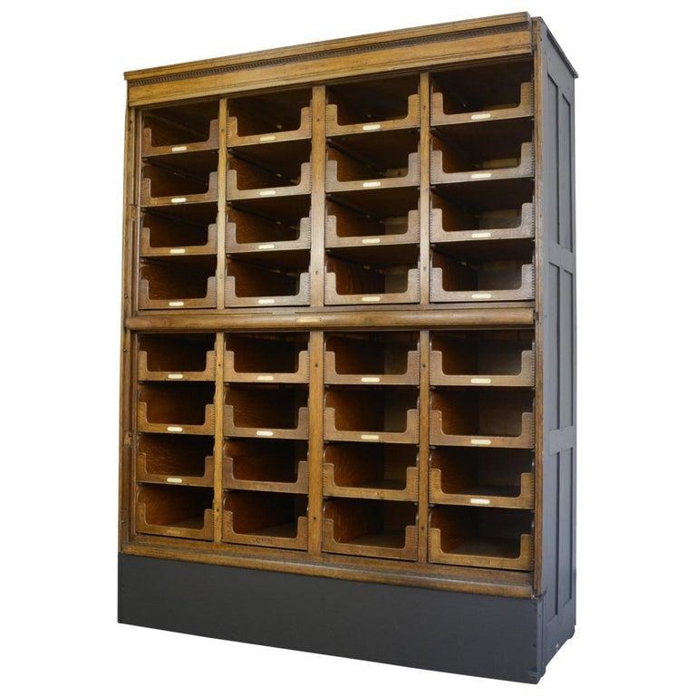 Haberdashery Cabinet by E Pollard & Co, circa 1910 For Sale