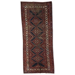 Handmade Antique Distressed Shiraz Style Rug, 1900s, 1C464