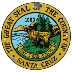County of Santa Cruz Great Seal Porcelain Sign