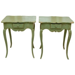 Pair of Painted Provencal Side Tables