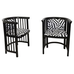 Pair of Vienna Secession Armchairs Josef Hoffmann Attributed
