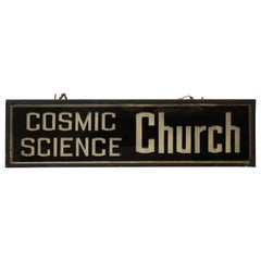 Cosmic Science Church Advertising Light Up Sign