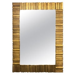 Large Gold Transitional Gilt Wall Mirror
