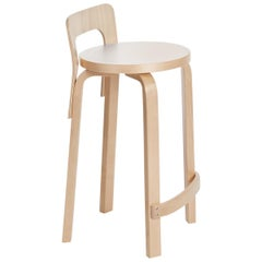 Authentic High Chair K65 in Birch with Laminate Seat by Alvar Aalto & Artek
