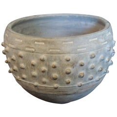 Modern Round Clay and Cement Dust Planter