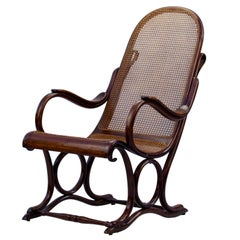 Bentwood Cane Salonfauteuil Easy Chair Thonet No. 1, circa 1890