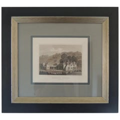 English Manors Engraving Reproduction in Black and White Framed #2