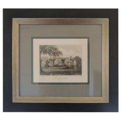 English Manors Engraving Reproduction in Black and White Framed #3