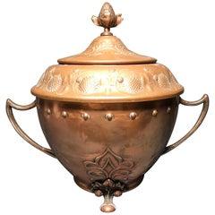 WMF Art Nouveau Bowel Vase Copper Rare High Quality