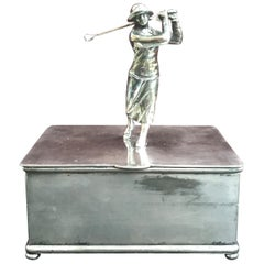 Art Deco Female Golf Box by Wilcox Silverplate Company