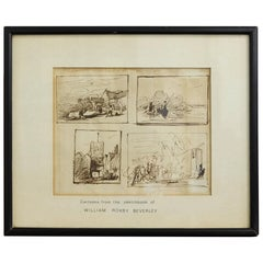 Framed Sketches by William Roxby Beverley, 19th Century Theatrical Scene Artist