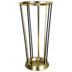 Midcentury Metal Brass Hollywood Regency Umbrella Stand, Germany, 1950s