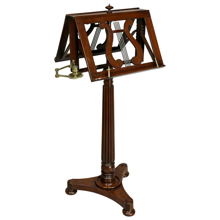 william iv mahogany duet music stand for sale at 1stdibs. Black Bedroom Furniture Sets. Home Design Ideas