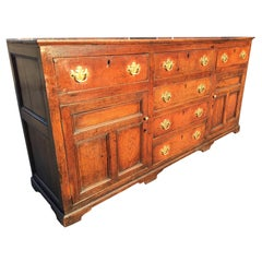 Oak Dresser Base or Server, English, circa 1800