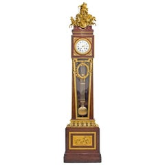 Francois Linke Gilt Bonze Mounted Kingwood and Satine Regulateur De Parquet